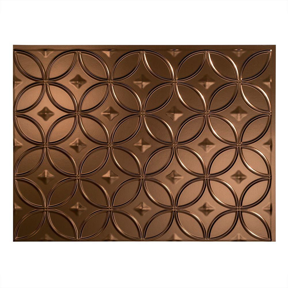 - Fasade Rings Oil Rubbed Bronze 18 Inch X 24 Inch PVC Backsplash