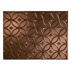 Rings Oil Rubbed Bronze 18 inch x 24 inch PVC Backsplash Panel
