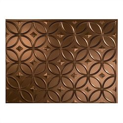Fasade Rings Oil Rubbed Bronze 18 inch x 24 inch PVC Backsplash Panel