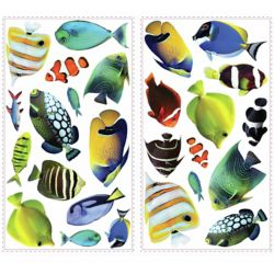 RoomMates Fish Wall Decals with Lenticular Port Hole Peel & Stick Wall Decals