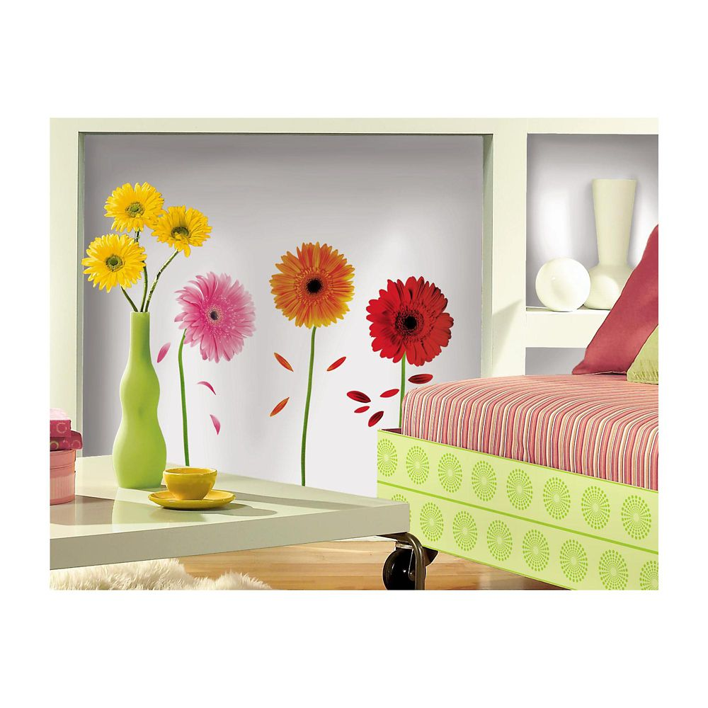 Small Gerber Daisies Peel & Stick Wall Decals