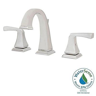 Delta Dryden Widespread (8-inch) 2-Handle Low Arc Bathroom Faucet in ...