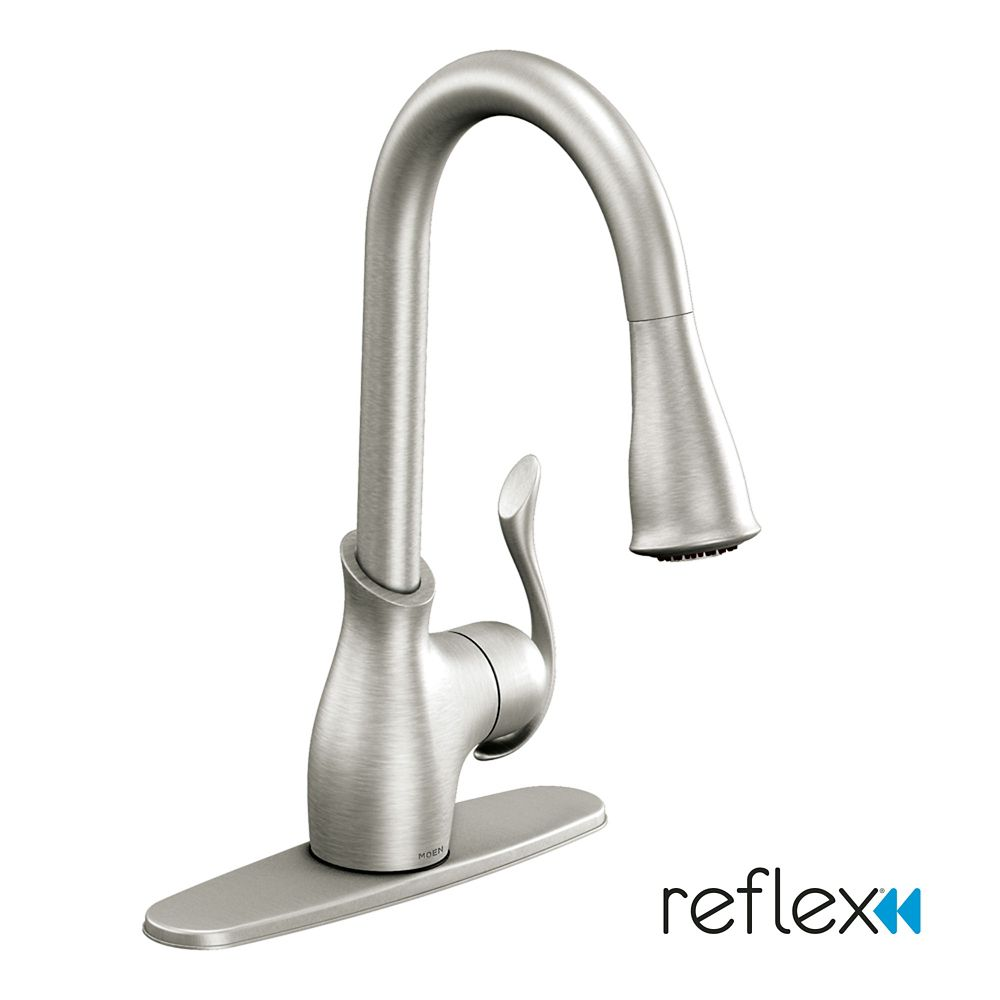 Boutique 1 Handle Reflex Pulldown Kitchen Faucet   Spot Resist Stainless  Finish