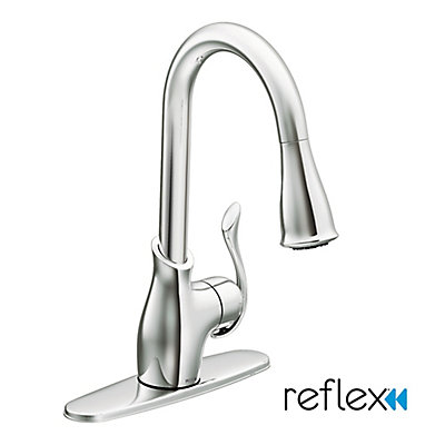 faucet with out clean p faucets pull sprayer microban in and spot single stainless walden moen protection power handle kitchen resist