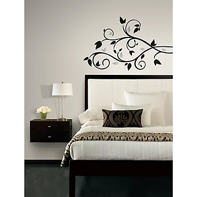 roommates foil tree branch peel & stick wall decal | the home depot