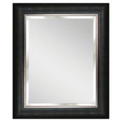 Deco Mirror 62,23 cm x 77,47cm Miroir Aldetron à cadre argenté et noir