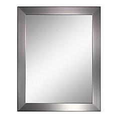 22 in. x 28 in. Modern Brush Nickel Mirror