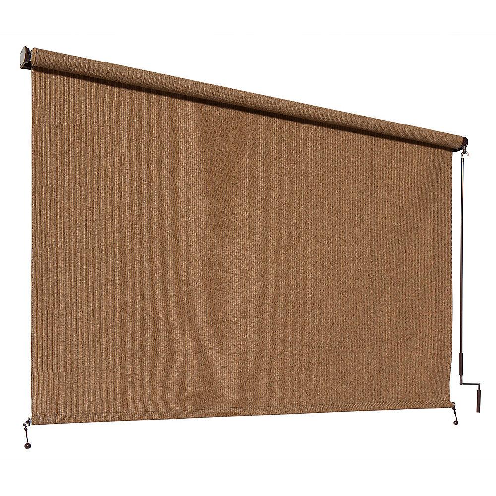 Store extérieur à manivelle Coolaroo, avec une protection de 95% contre les rayons UV (8 pi x8 pi)  couleurNoyer