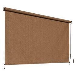 Coolaroo Store extérieur à manivelle Coolaroo, avec une protection de 95% contre les rayons UV (8 pi x8 pi)  couleurNoyer