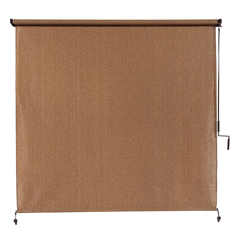 Store extérieur à manivelle, avec une protection de 95% contre les rayons UV (10 pi x8 pi) couleur Noyer
