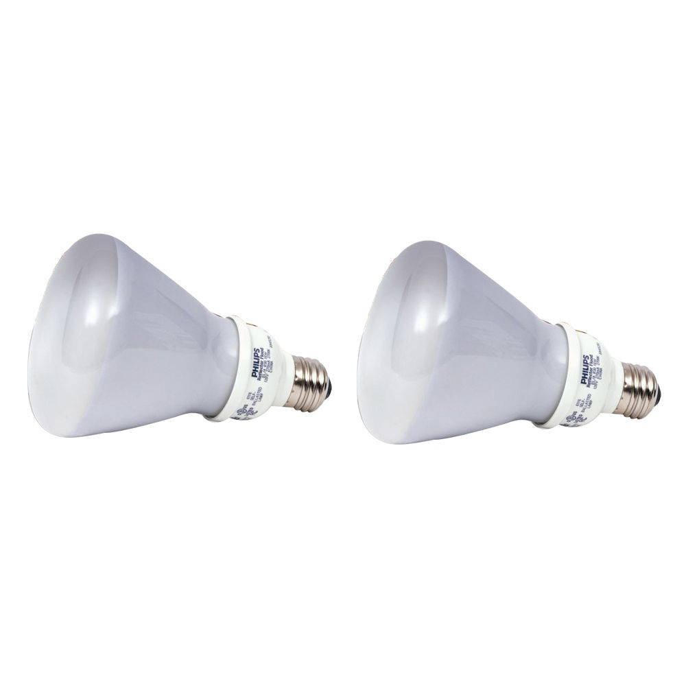 CFL 15W = 65W R30 Reflector Soft White (2700K) - 2 Pack