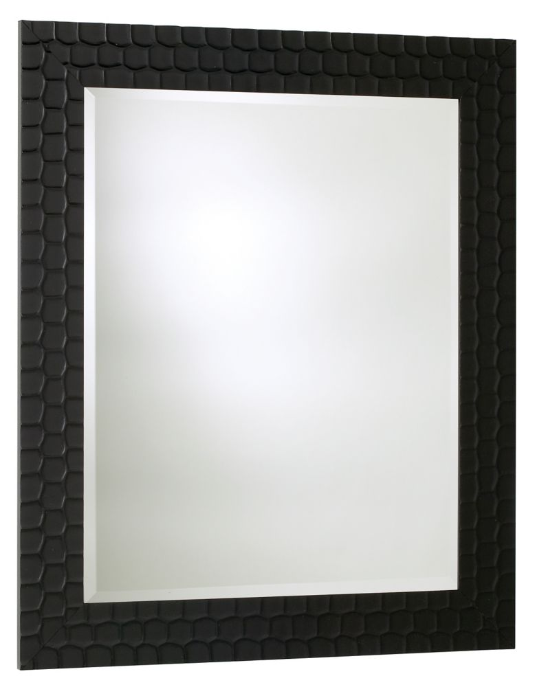 The Tangerine Mirror Co. Black Satin Shell - 24 Inches x 36 Inches