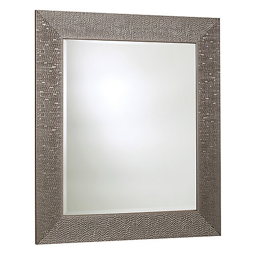 Byzantium Mirror, Crystallized Silver  30.75 Inches x 42.75 Inches