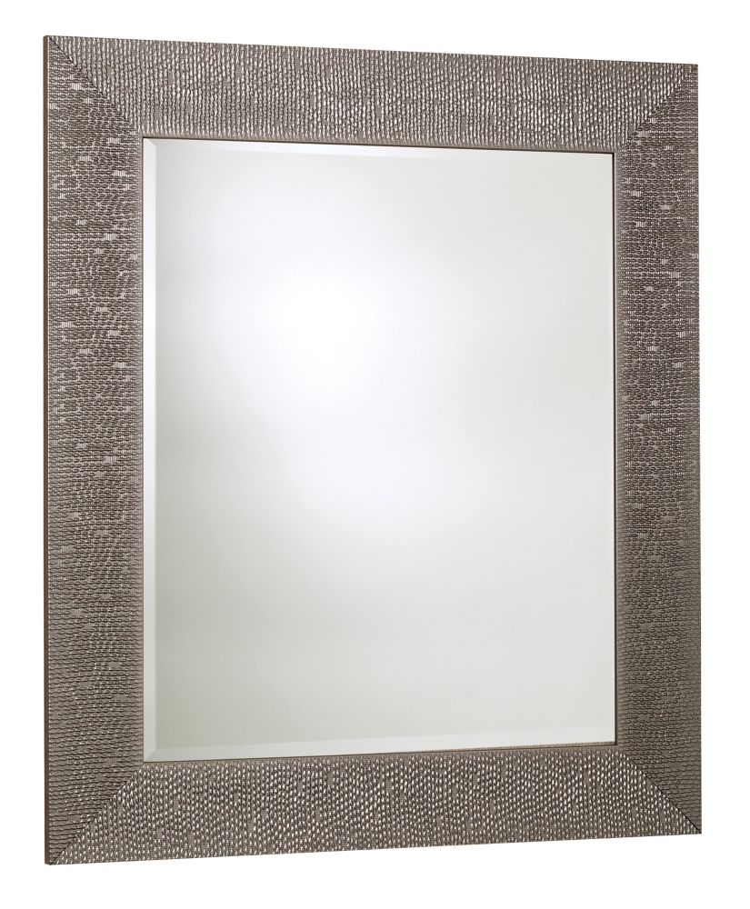 Byzantium Mirror, Crystallized Silver � 30.75 Inches x 42.75 Inches