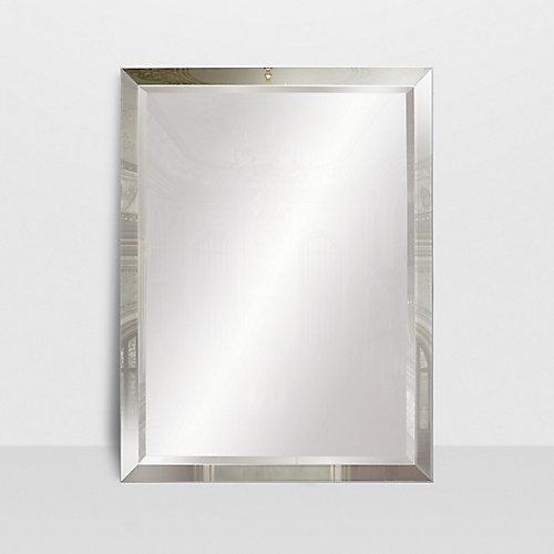 Miroir avec cadre décoratif fini miroir The Royal Mirror, 24 po x 36 po