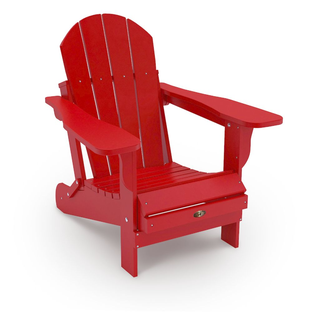 Home leisure leisure line adirondack chair red the for Chaise adirondack canadian tire