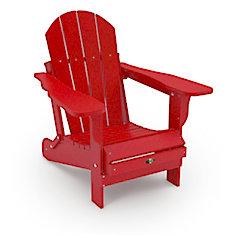 Leisure Line Red Patio Adirondack Chair
