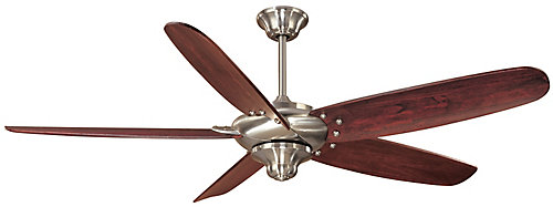 Hampton bay altura brushed nickel ceiling fan 56 inch the home altura brushed nickel ceiling fan 56 inch mozeypictures Image collections