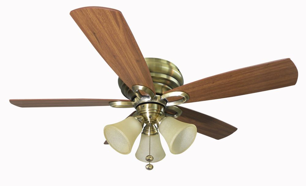 Hampton Bay Maris Antique Brass Ceiling Fan