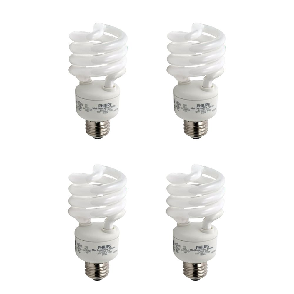 CFL 23W = 100W Mini Twister Soft White (2700K) - 4 Pack