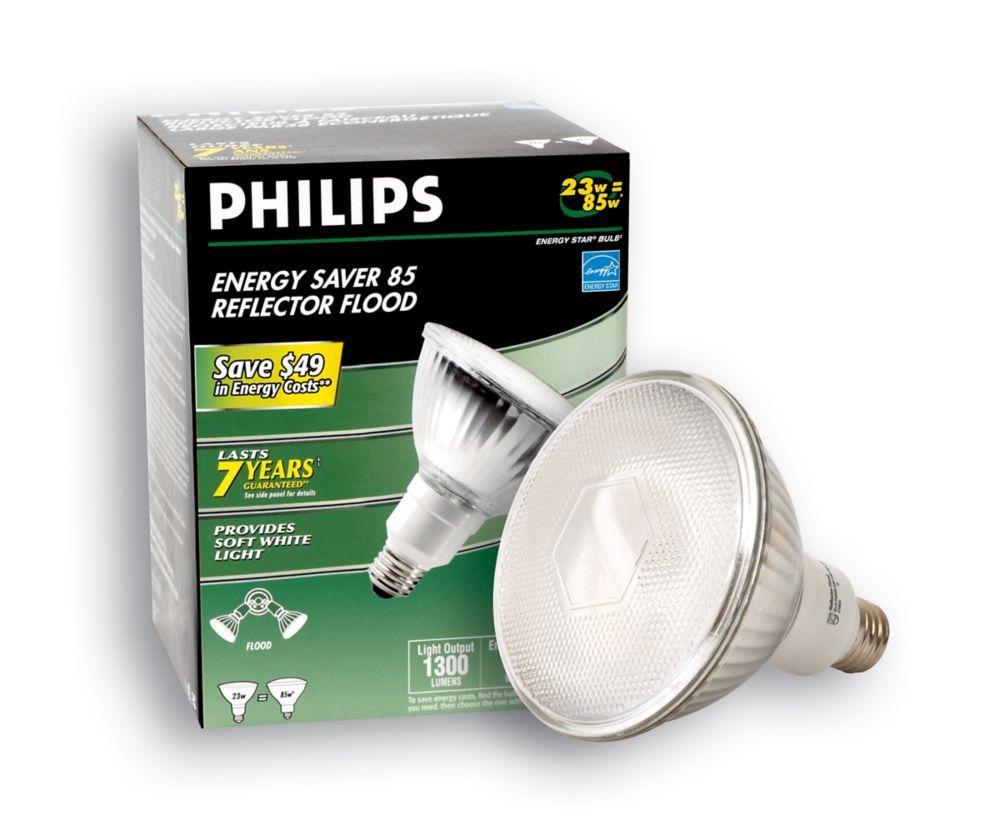 CFL 23W = 85W PAR38 Reflector Soft White (2700K)