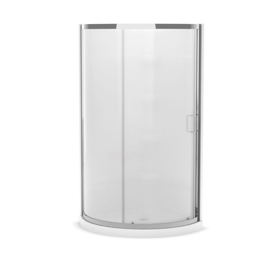 MAAX Iris II 34-inch x 34-inch x 76-inch Round Shower Stall in White ...