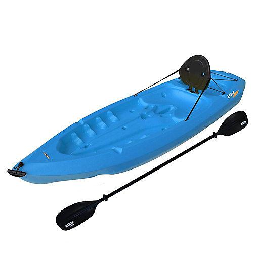 Kayak Lotus de avec pagaies et dossier, 8pi, bleu