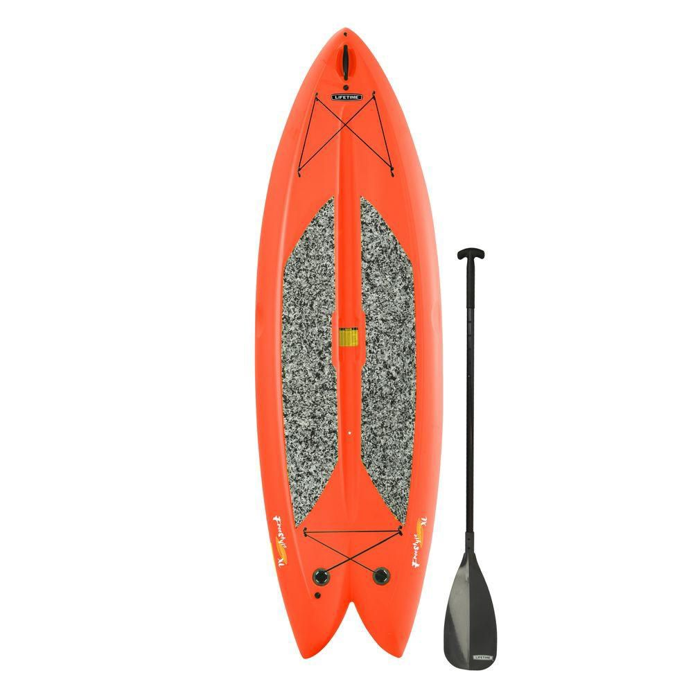 Freestyle Paddleboard with Paddle in Orange