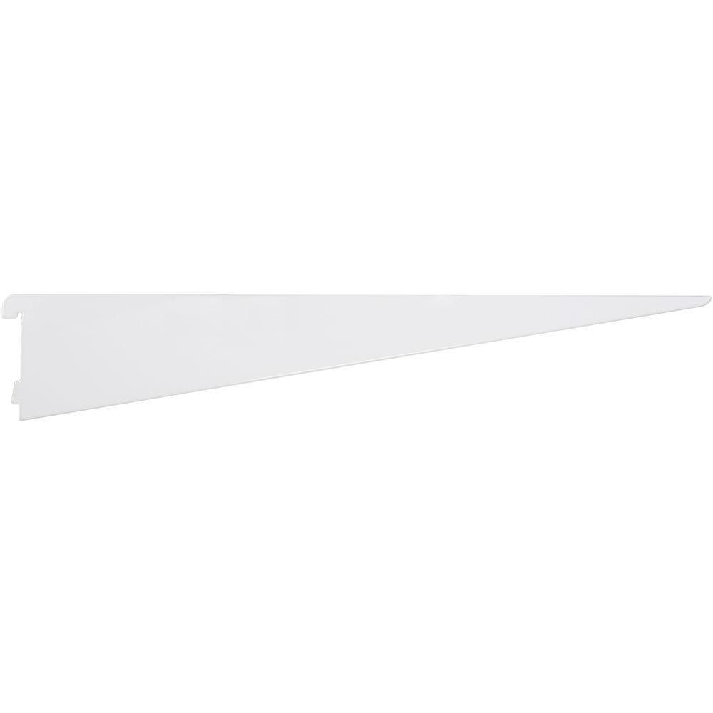24 inch  White Twin Track Bracket