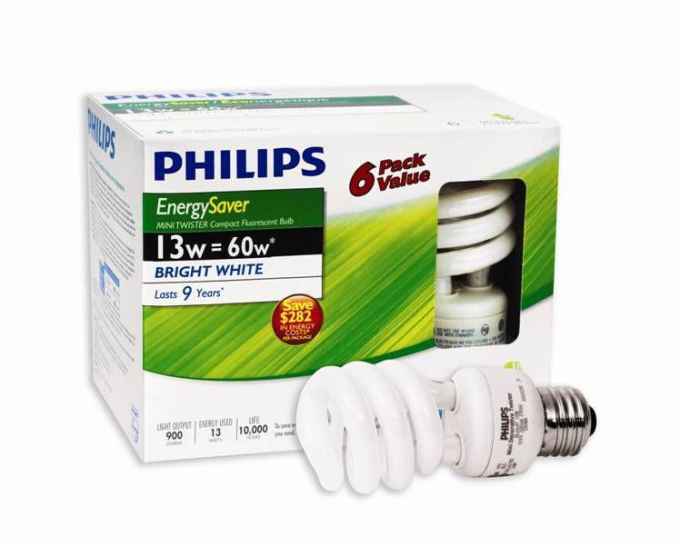 LFC Mini Twister EnergySaver 13W = 60W Blanc brilliant (5000K) 6/paq.