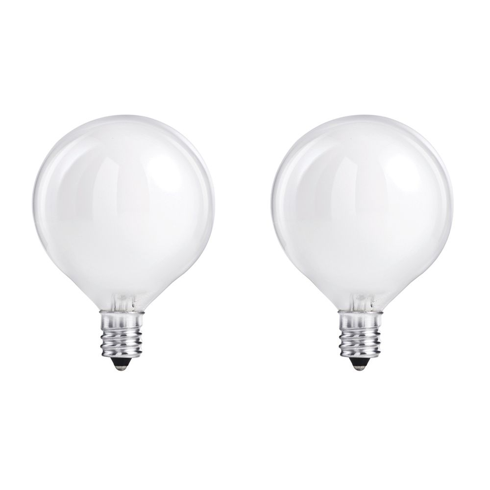 Halogen 40W Globe (G16.5) White 2 Pack