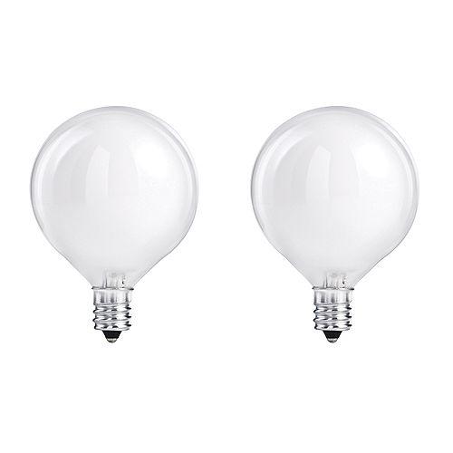 Philips 40W Halogen Globe (G16.5) White Light Bulb (2-Pack)