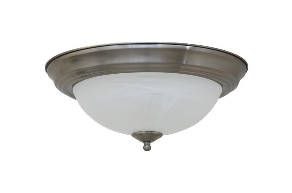 Shawson Lighting  33,66cm plafonnier, fini nickel brossé
