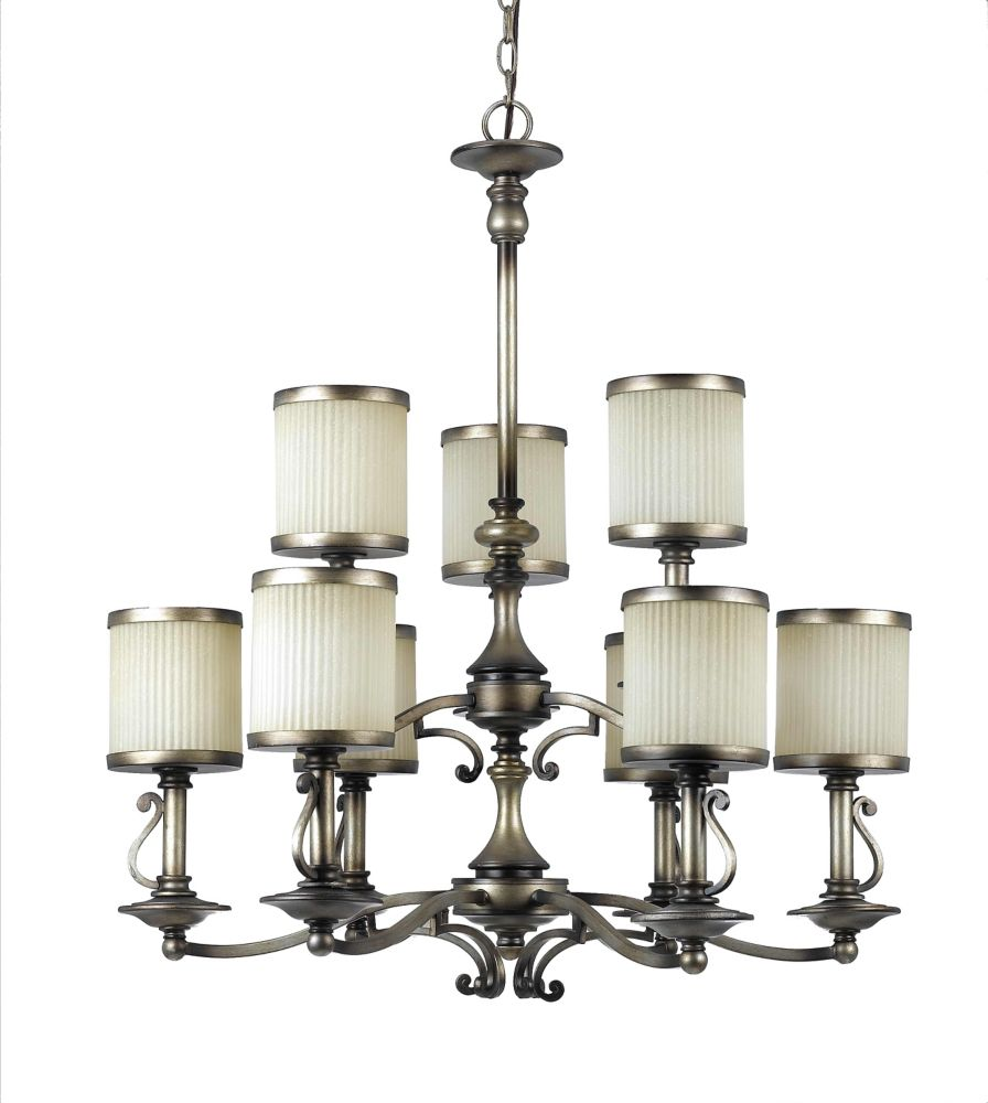 28 Inches Chandelier, Cappucino Finish