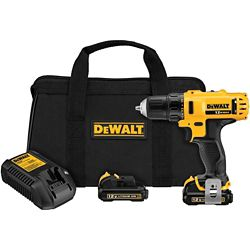 DEWALT 12V MAX Li-Ion Cordless 3/8-inch Drill/Driver Kit with (2) 12V Batteries 1.5Ah, Charger and Tool Bag