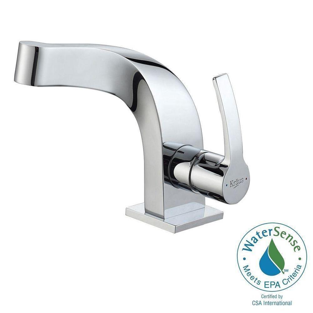 Typhon Single-Lever Basin Bathroom Faucet in Chrome Finish