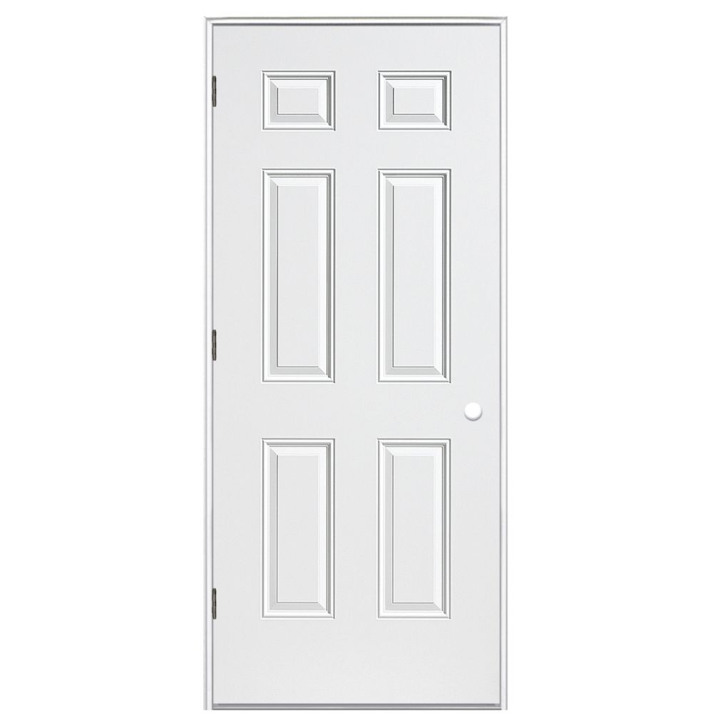 34-inch x 4 9/16-inch Primary 6 Panel Left Hand Outswing Door