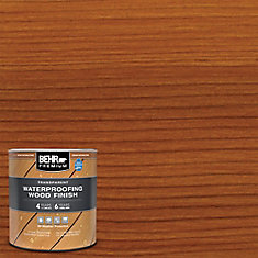 BEHR PREMIUM TRANSPARENT WEATHERPROOFING WOOD FINISH, NATURAL, 916 ML