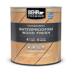 BEHR PREMIUM TRANSPARENT WEATHERPROOFING WOOD FINISH, CEDAR NATURALTONE, 946 ML