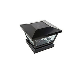 Classy Caps 5 inch x 5 inch/ 4 inch x 4 inch Black ABS Outdoor Fairmont Solar Post Cap