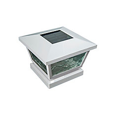5 inch x 5 inch/ 4 inch x 4 inch White ABS Outdoor Fairmont Solar Post Cap