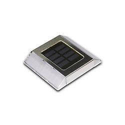 Classy Caps Lumière solaire à DEL intégré pour allées et terrasses, acier inoxydable