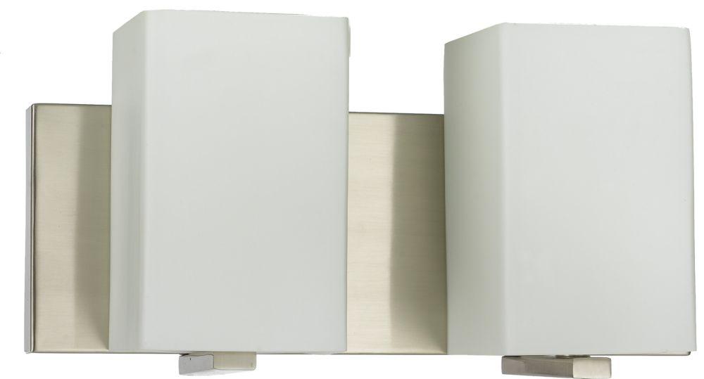33,97cm accessoires de meuble-lavabo, fini nickel brossé