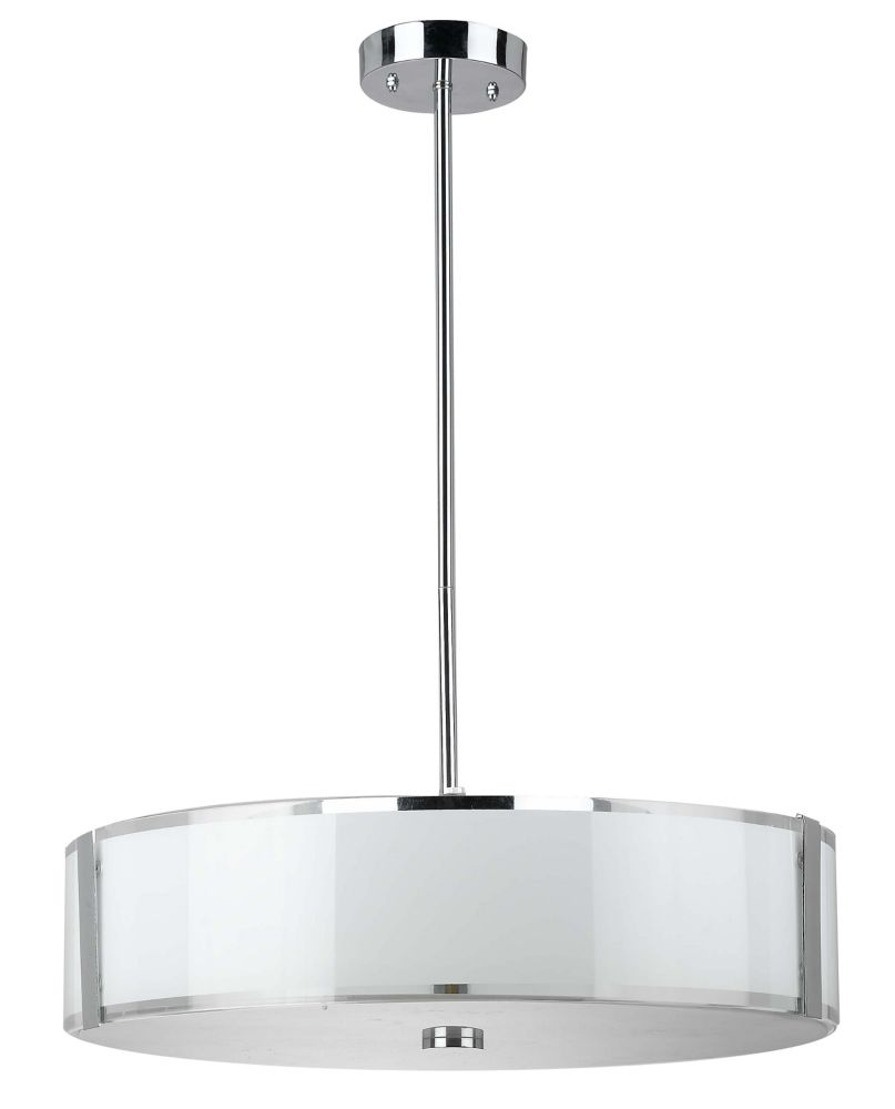 Shawson lighting 50 17cm luminaire suspendu fini chrom for Home depot luminaire suspendu interieur