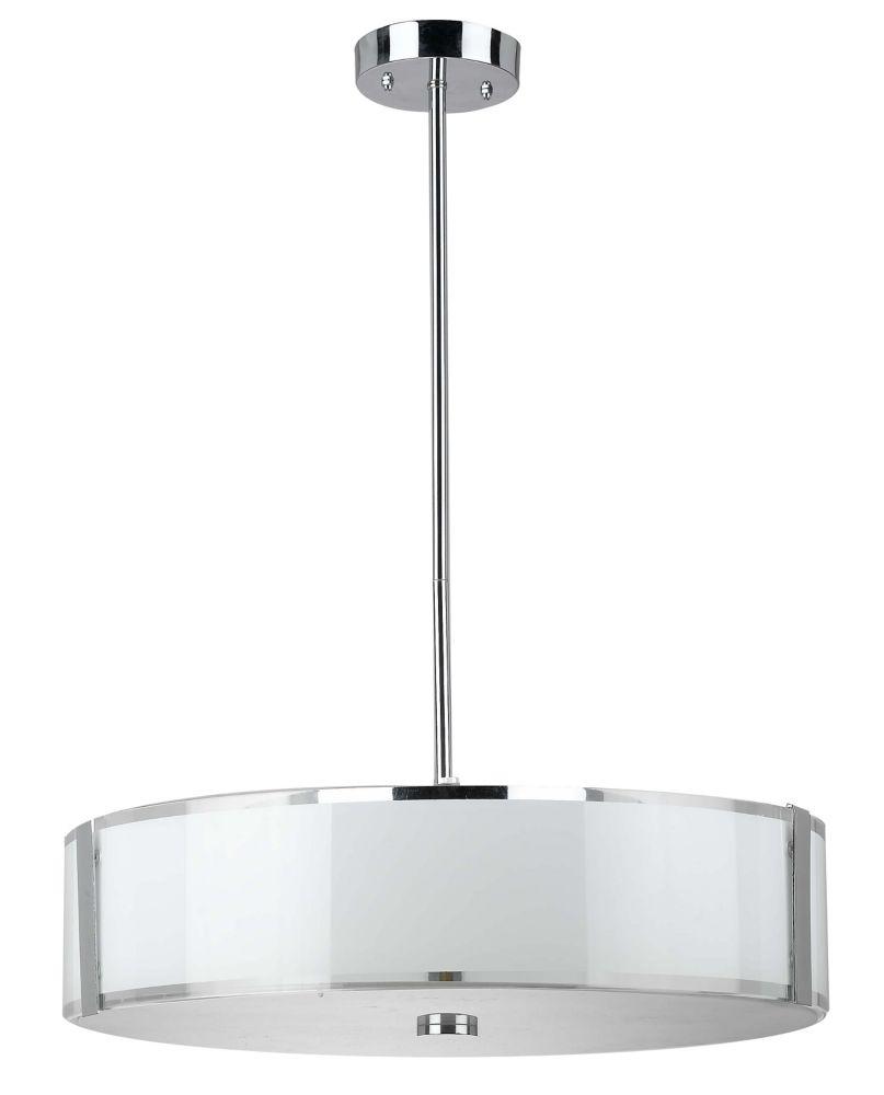 50,17cm luminaire suspendu, fini chromé
