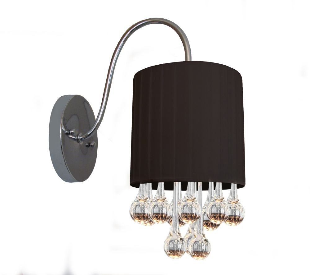 7 Inches Wall Sconce, Chrome Finish
