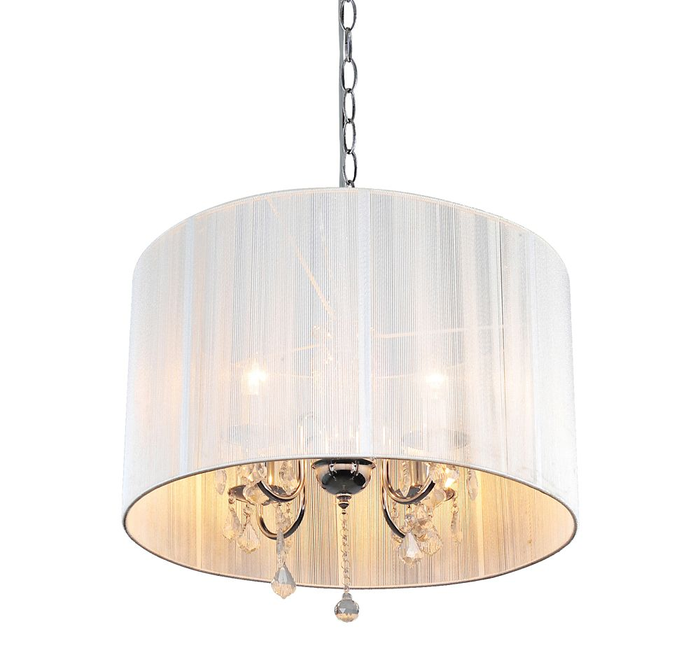 Shawson Lighting 22 Inches Pendant Chrome Finish