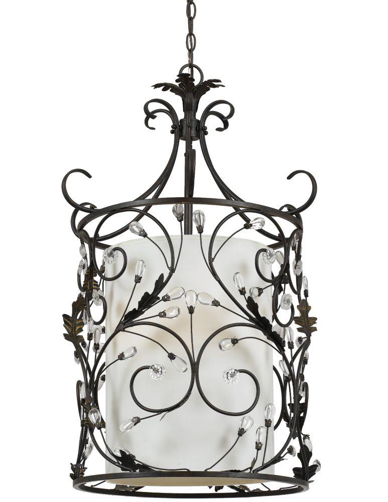 Shawson lighting 54 61cm luminaire suspendu fini bronze for Home depot luminaire suspendu interieur