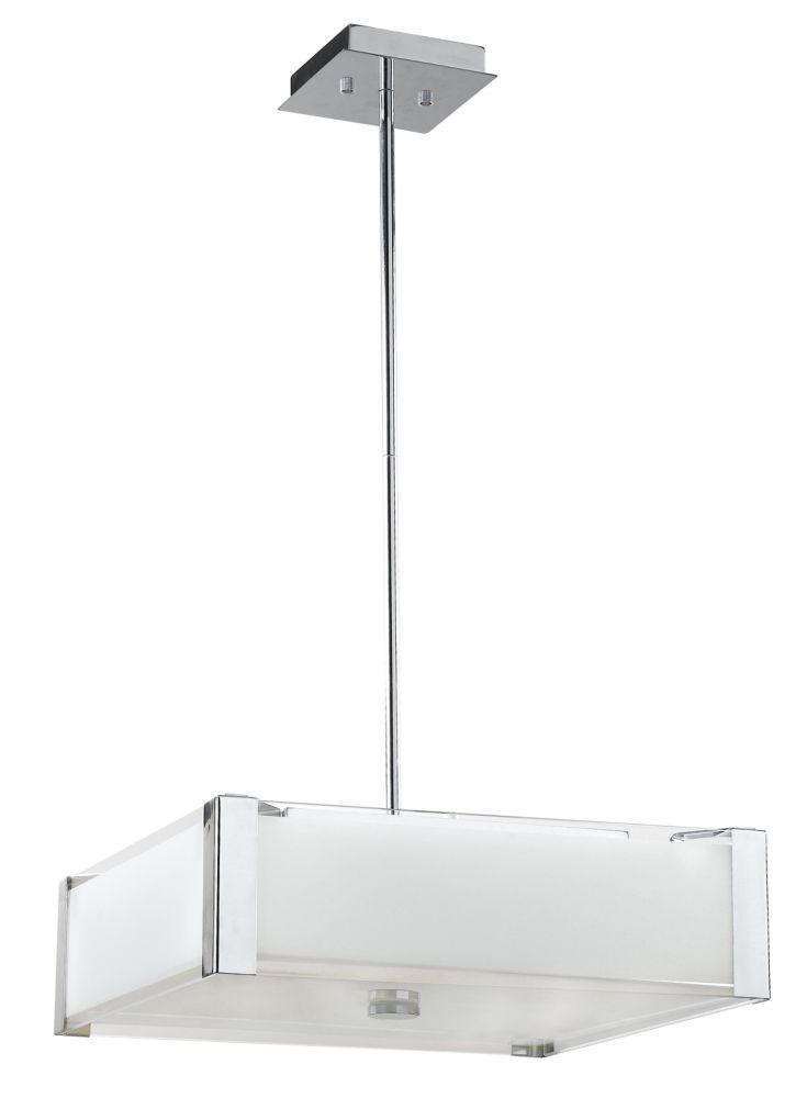 41,91cm luminaire suspendu, fini chromé