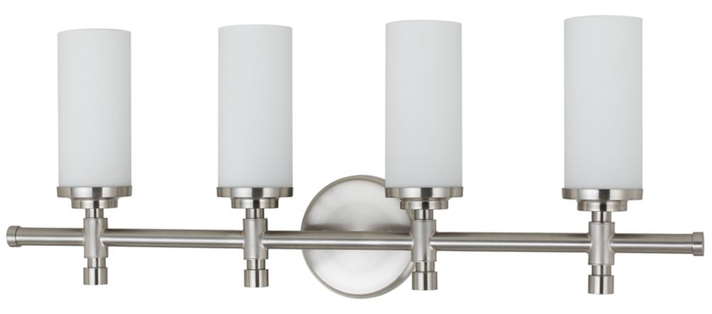 28-3/8 Inches Wall Sconce, Brushed Nickel Finish